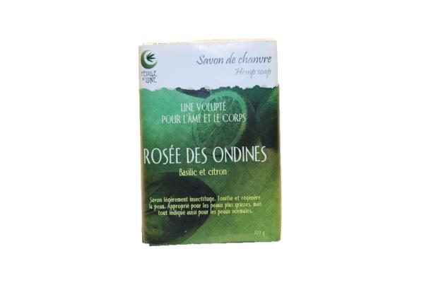 3090 - Savon chanvre rosée des ondines - Feuille de lune